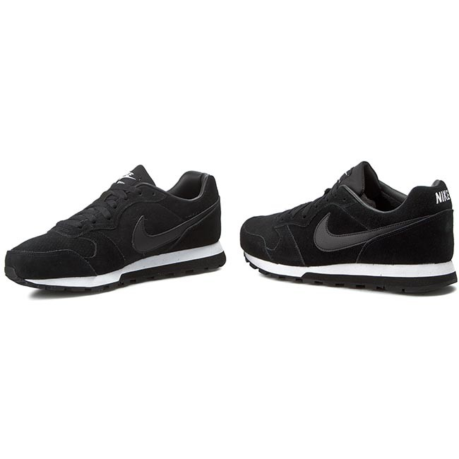 roshe run chaussure - Shoes NIKE - Nike Md Runner 2 Leather Prem 819834 001 Black/Black ...