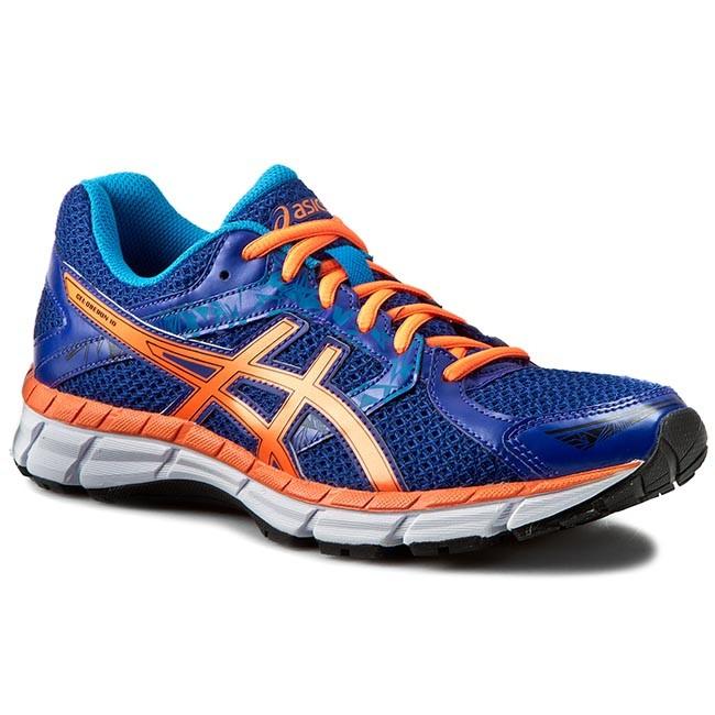 Asics 10 Orange Blue Mens Shoes