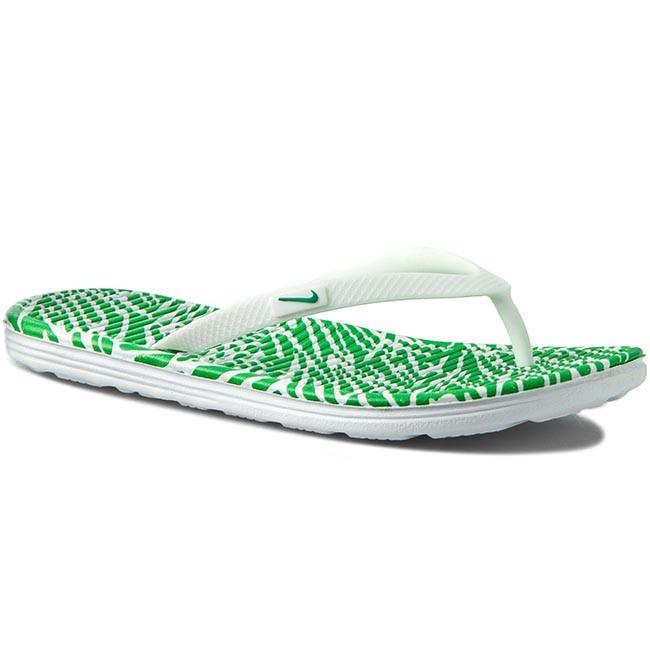 Slides NIKE - Solarsoft Thong 2 Print 553486 131 White/Spring Leaf