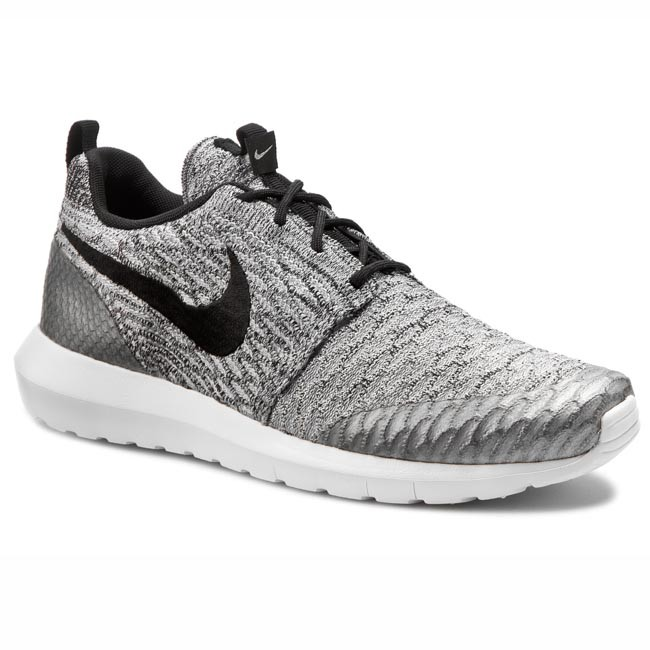 best loved 180a2 cabb4 Shoes NIKE. Roshe Nm Flyknit Se 816531 002 Wolf Grey Black White