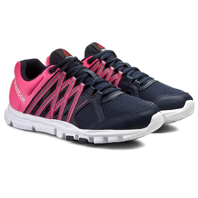 reebok yourflex trainette. shoes reebok - yourflex trainette 8.0 v72512 navy/pink/white a