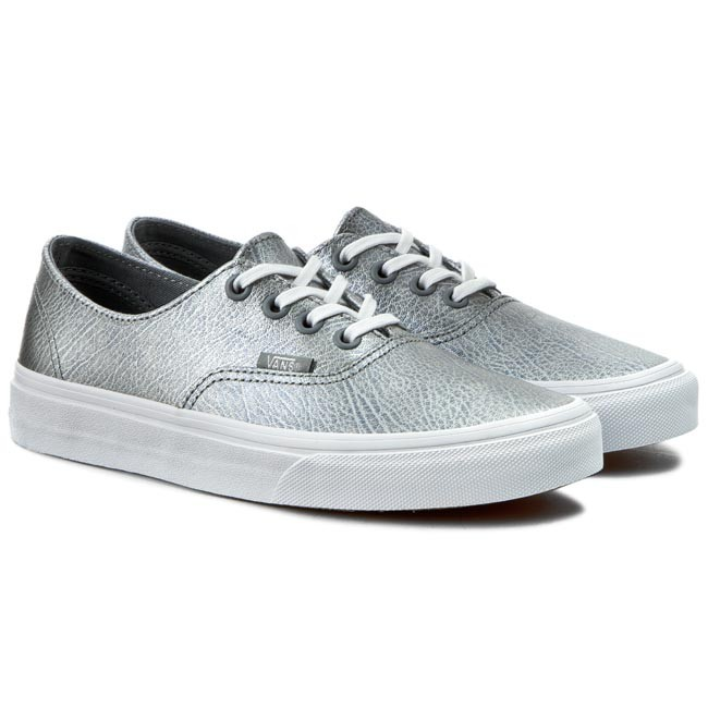 34defcb90ce2d4 Plimsolls VANS - Authentic Decon VN00018CIT1 (Metallic Leather) Gray -  Casual - Low shoes - Women s shoes - www.efootwear.eu