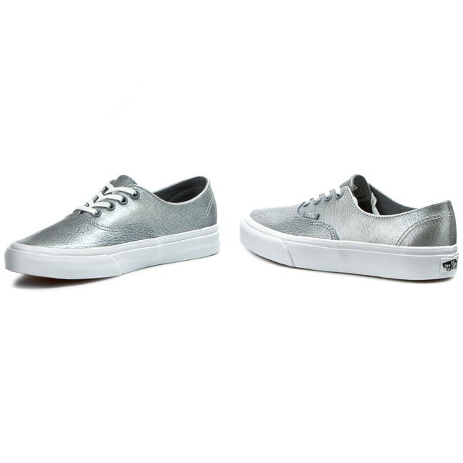 cbd74c4292605e Plimsolls VANS - Authentic Decon VN00018CIT1 (Metallic Leather) Gray ...