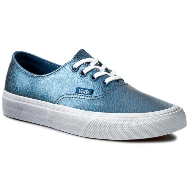 vans leather blue