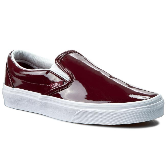 vans burgandy ladies shoes