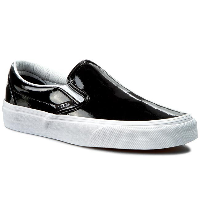 Fascinating Vans Classic Slip On Patent Plimsolls S37j8962