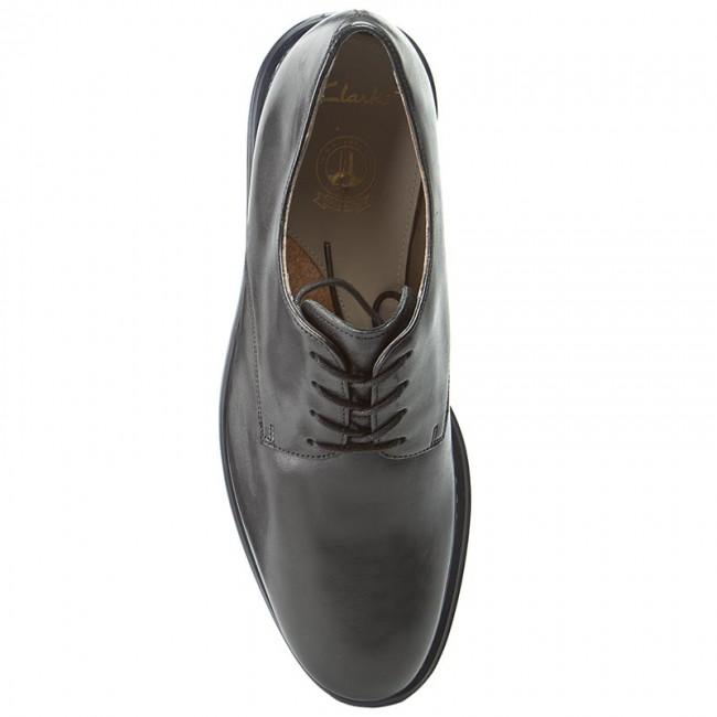 Kenley Clarks Leather Walk Black Shoes 261206967 b6v7Yfgy