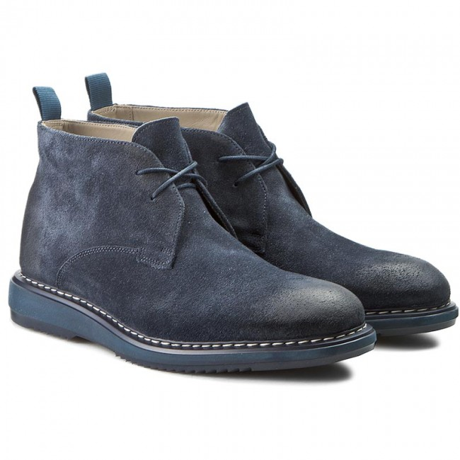 ec878668395 Boots CLARKS - Kenley Mid 261206977 Navy Suede - Boots - High boots ...