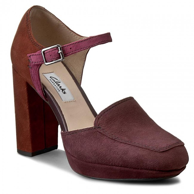 Shoes CLARKS - Gabriel Dawn 261189224 Aubergine - Heels - Low shoes ... 5dd45501c18b