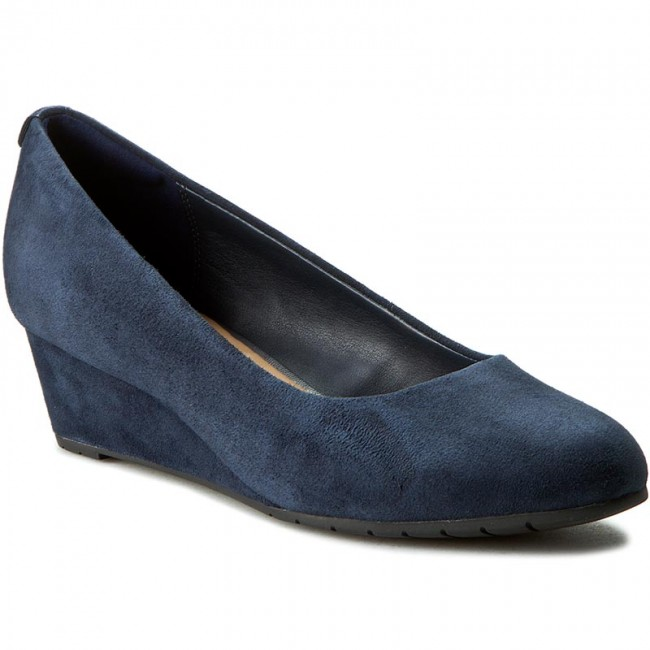 Shoes CLARKS - Vendra Bloom 261201254 Navy Suede