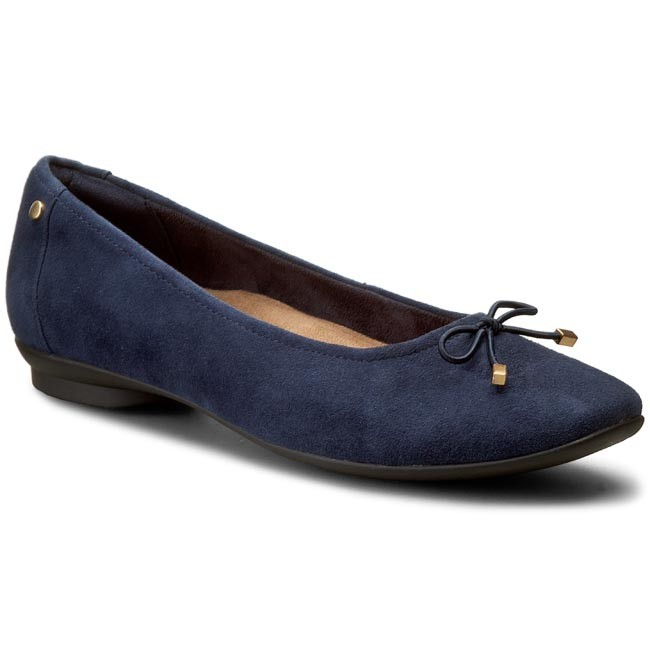 Shoes CLARKS - Candra Light 261204544 Navy Suede