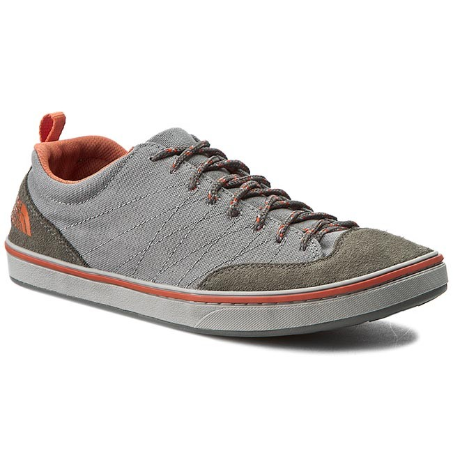 Mens The North Face Base Camp Approach - Trainers - Sedona Sage Grey/Orange Rust OI90517