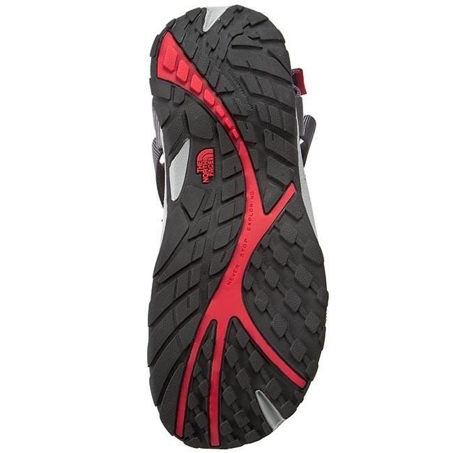 1d98cade3cb3 Sandals THE NORTH FACE - Litewave Sandal NF00CXS805X-080 Zinc Grey TNF Red  - Sandals - Mules and sandals - Men s shoes - www.efootwear.eu