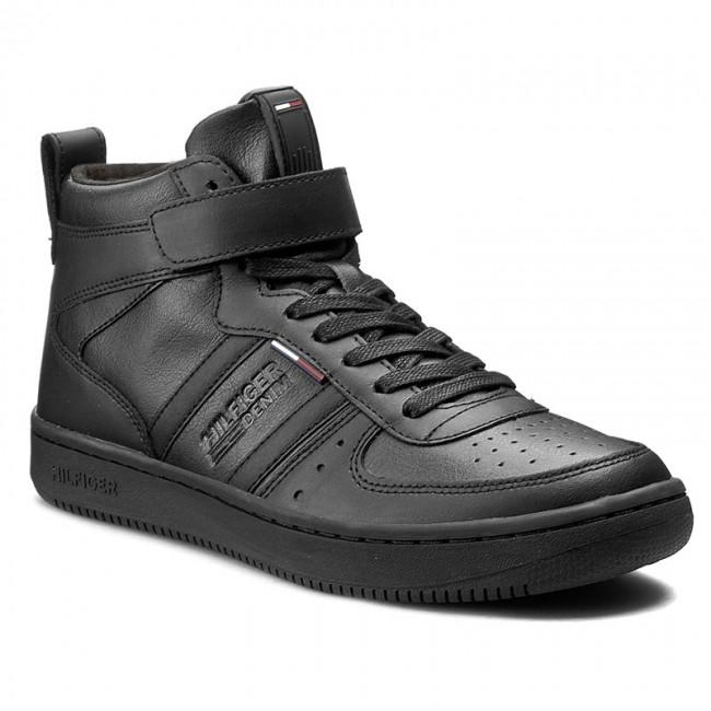 Sneakers TOMMY HILFIGER - DENIM Jump 1A EM56822086 Black 990 ... 9e480bcd19a