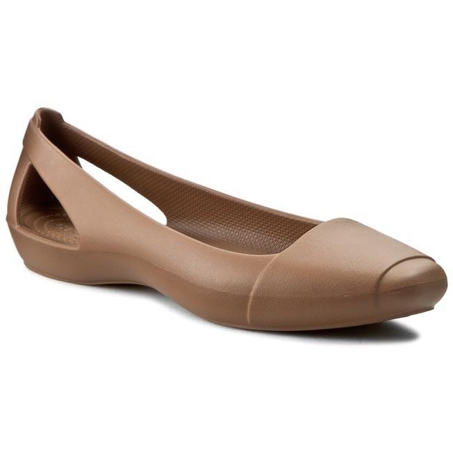 Flats CROCS - Sienna Flat W 202811 Bronze