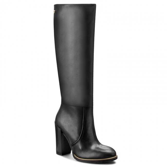 f23774070c622 Knee High Boots TOMMY HILFIGER. High Leather Boot Hg 3A FW56821612 Black 990
