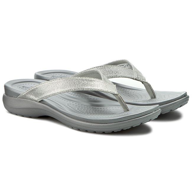 51c05cf38c5f Slides CROCS - Capri V Shimmer Flip W 202845 Silver - Flip-flops - Mules  and sandals - Women s shoes - www.efootwear.eu