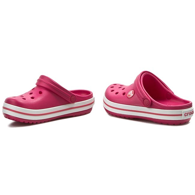 Slides CROCS - Crocband Kids 10998 Raspberry White - Clogs and mules ... 00a1486a900