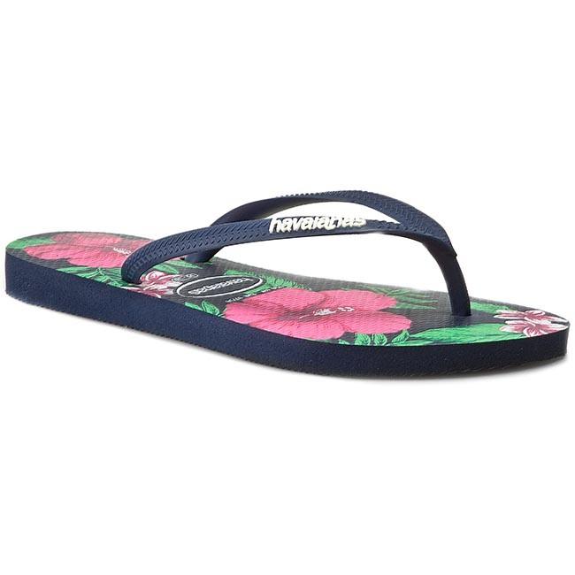 9e45dc94a Slides HAVAIANAS - Slim Floral 41298480555 Navy Blue - Flip-flops ...