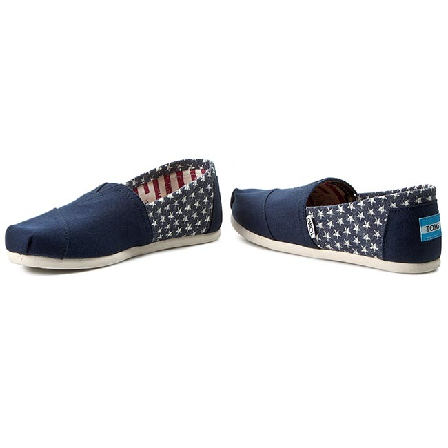 a3341f8a1 Shoes TOMS - Classic 10007993 Americana Navy Canvas Star - Flats ...