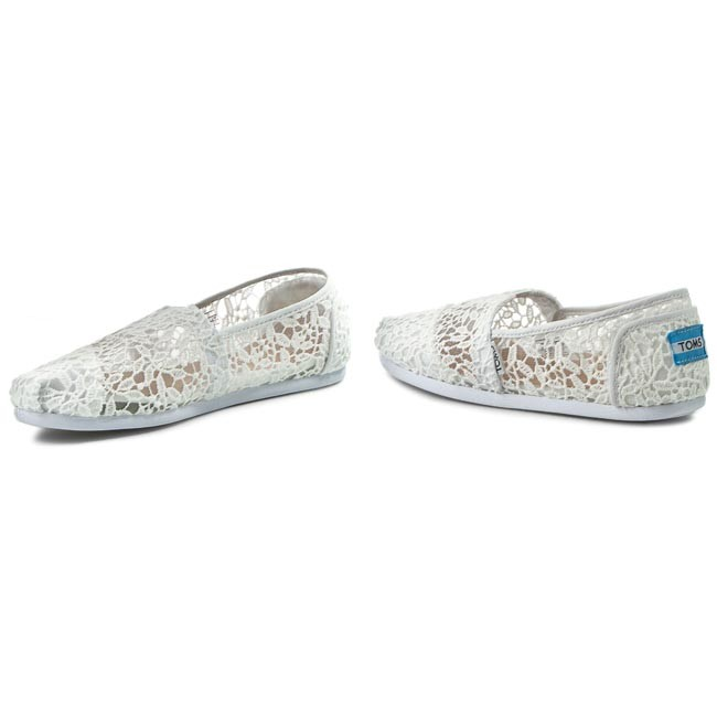 daaaa35ccf9 Shoes TOMS - Classic 10008033 White Lace Leaves - Flats - Low shoes ...