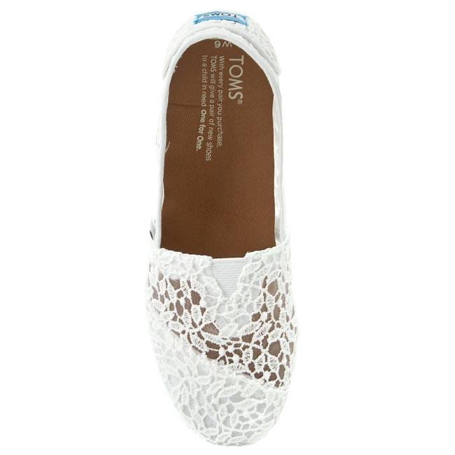 0aea653d0eb Shoes TOMS - Classic 10008033 White Lace Leaves - Flats - Low shoes -  Women s shoes - www.efootwear.eu