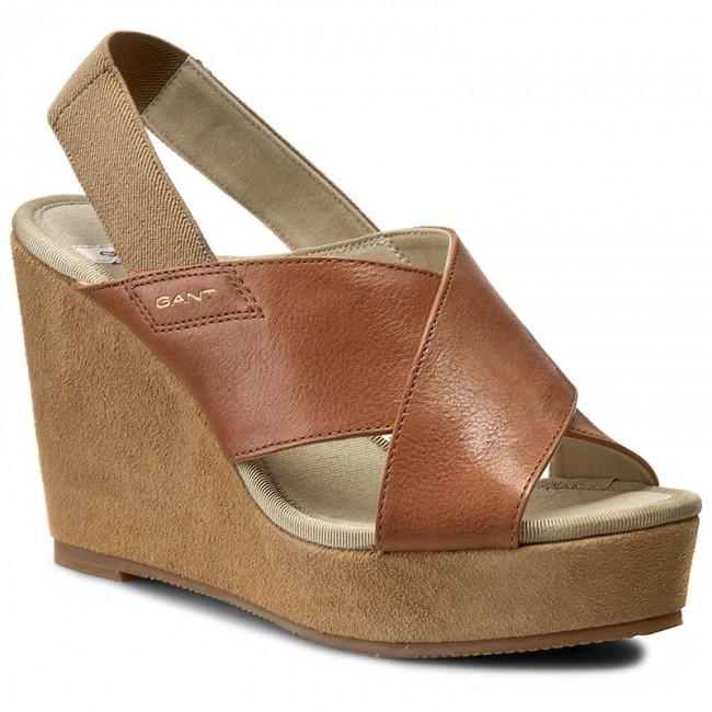 95c79ed2a32 Sandals GANT - Stella 12561192 Camel G14 - Casual sandals - Sandals ...