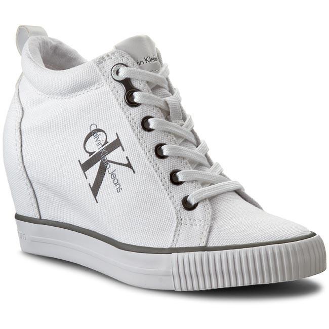 Canvas Wedge Sneakers Calvin Klein 84EGhahFc