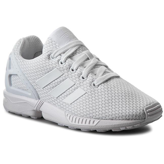 Shoes adidas - Zx Flux K S81421 Ftwwht/Ftwwht/Ftwwht