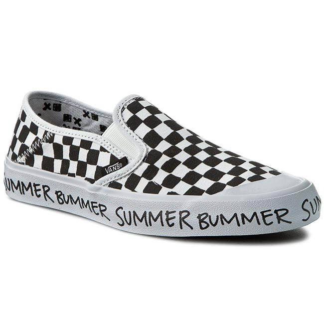 Plimsolls VANS Slip On Sf VN00019SIK0 Checkerboard Summer Bummer