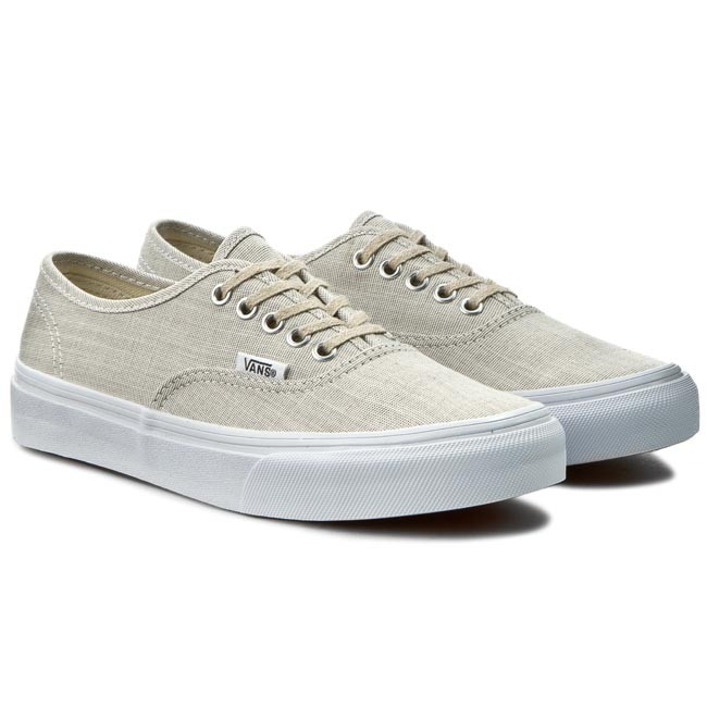 Plimsolls VANS Authentic Slim VN000XG6IAY GrayTrue Wht (Chambray)