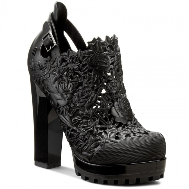 fd8a1d97f79f Shoes MELISSA - Ah+Melissa Flower Boot Ad 31620 Black 01003 - Heels ...