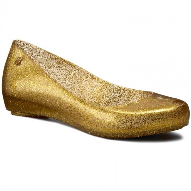 Melissa / Ultragirl XII Flats / Gold Glitter