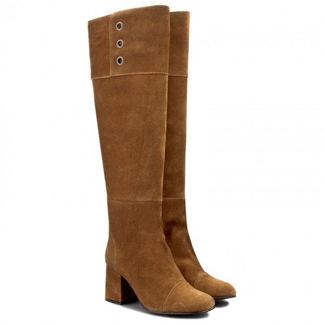 1523e865978 Knee High Boots FLY LONDON - Tito P143789006 Camel - Jackboots - High boots  and others - Women's shoes - www.efootwear.eu