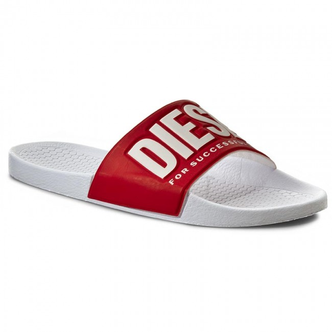 deeec1a4db4d Slides DIESEL - Freestyle Y00434 PS720 H1251 White True Red - Clogs ...