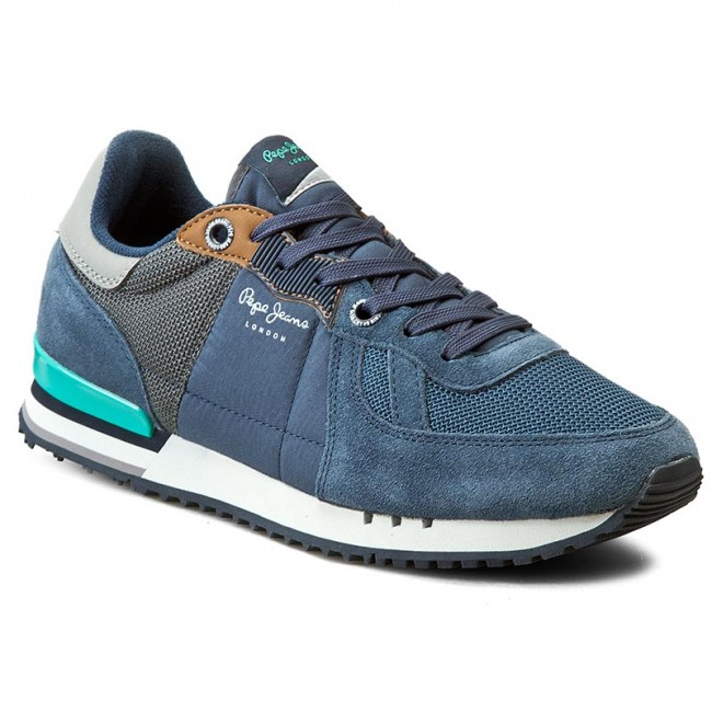 Sneakers PEPE JEANS - Tinker Basic PMS30271 Ocean 588 - Casual - Low ... 865d58880c