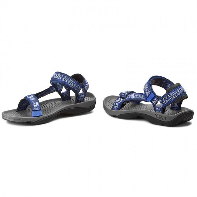 2d466d2a20b779 Sandals TEVA - M Hurricane 3 6502 Mad Waves Blue - Sandals - Outdoor ...