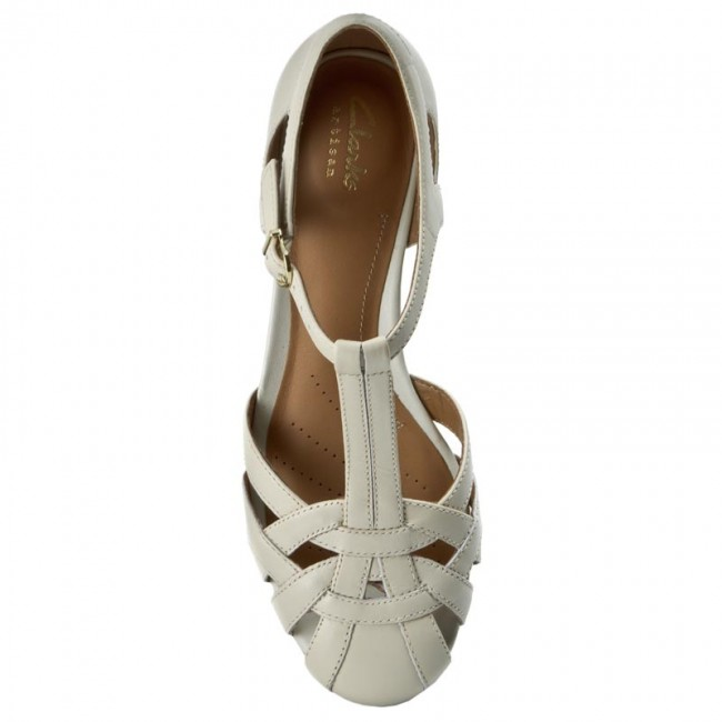 8a11b3c3e43e Sandals CLARKS - Henderson Luck 261174724 Off White Leather - Casual  sandals - Sandals - Mules and sandals - Women s shoes - www.efootwear.eu