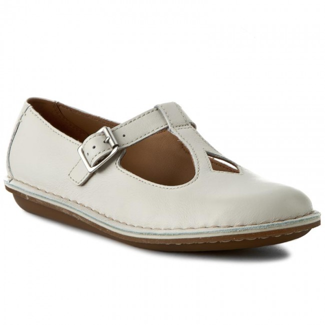 Shoes CLARKS - Tustin Talent 261156245 Off White Lea