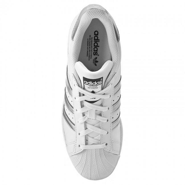lowest price 1f1a9 d0d00 Shoes adidas - Superstar AQ3091 Ftwwht Silvmt Cblack - Sneakers - Low shoes  - Women s shoes - www.efootwear.eu
