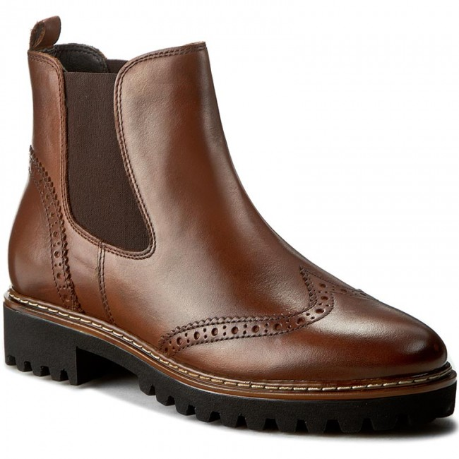 91e98fbb2d Ankle Boots TAMARIS - 1-25442-27 Cognac - Boots - High boots and ...