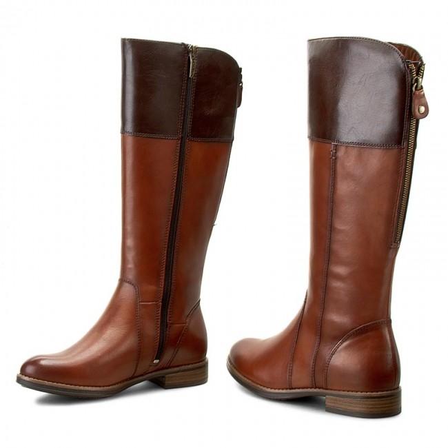 b6ae829289 Knee High Boots TAMARIS - 1-25530-27 Cognac Mocca 346 - Knee-high ...