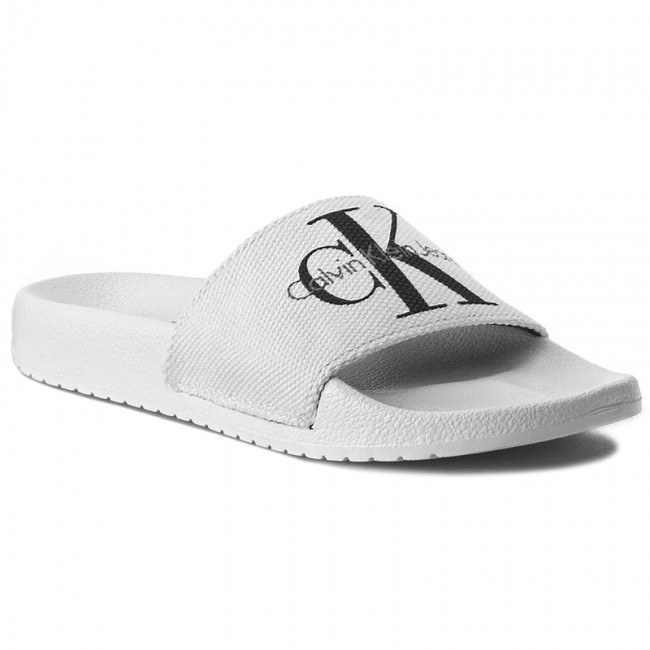 Slides CALVIN KLEIN JEANS  Chantal RE9587 White  Casual mules  Mules  Mules and sandals  Womens shoes       0000198609580