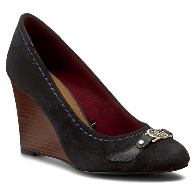 3e97bf6f202e Shoes TOMMY HILFIGER - Rosalia 2C FW56821358 Midnight 403 - Wedge ...
