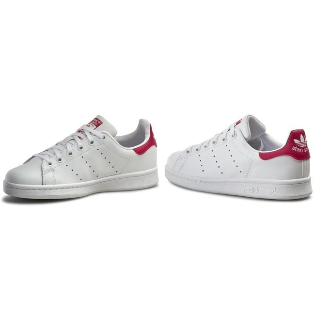 Shoes adidas - Stan Smith J B32703 Ftwwht/Ftwwht/Bopink