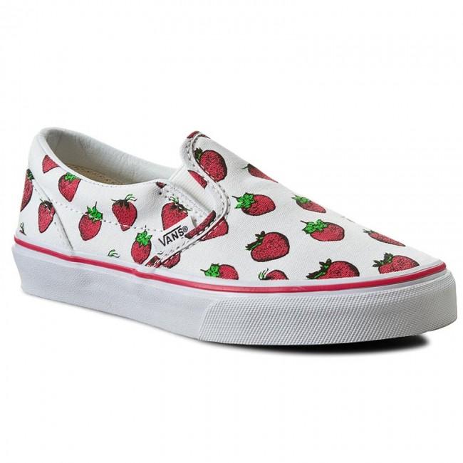 4ec0b4dfef2 Plimsolls VANS - Classic Slip-On VN0004J2IV0 (Strawberries) True White