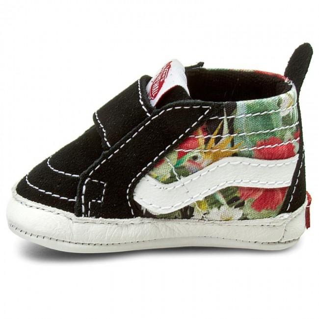 bfdfef649e2d4c Shoes VANS - Sk8-Hi Crib VN00018PID6 (Digi Aloha) Black True White - Velcro  - Low shoes - Girl - Kids  shoes - www.efootwear.eu
