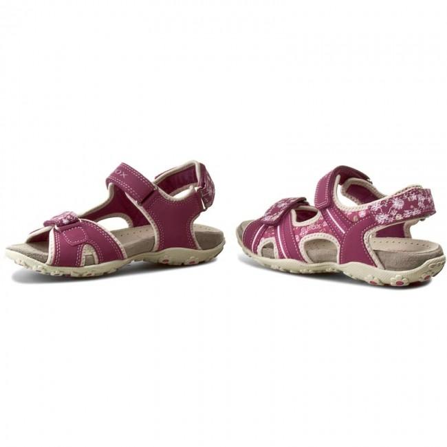 15432a69f8b35 Sandals GEOX - J S.Roxanne A J52D9A 050EE C8872 D Fuksja/Jasny Beż ...