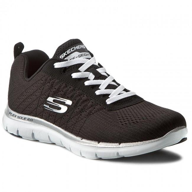 Shoes SKECHERS Sports - Break Free 12757/BKW Black/White - Fitness - Sports SKECHERS shoes - Women's shoes 6caa6c