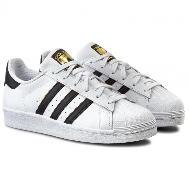 Cheap Adidas Kids Originals Superstar 2 White Black White Shoeteria